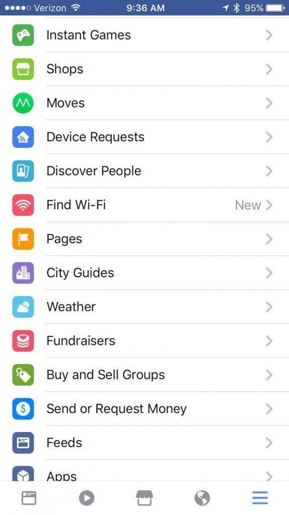 City guides on FB mobile app