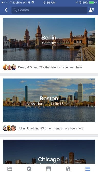 Facebook city guides for real estate