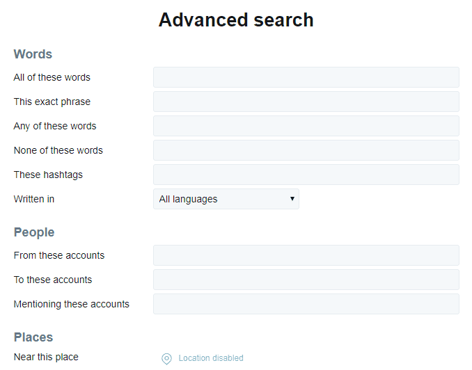 Twitter advanced search for real estate