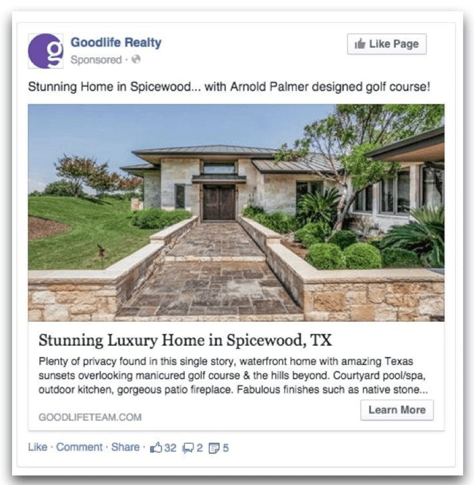 Real Estate Advertising: 43 Great Examples Of Real Estate Facebook Ads